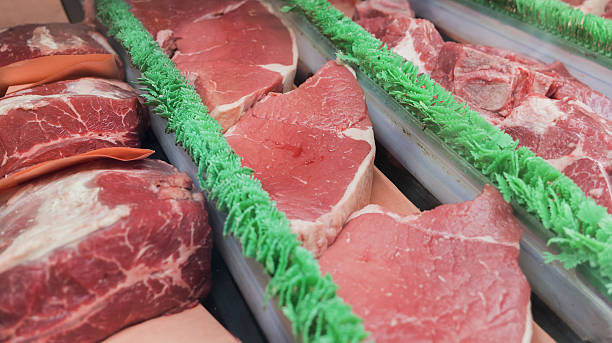Fresh raw meat stock photo