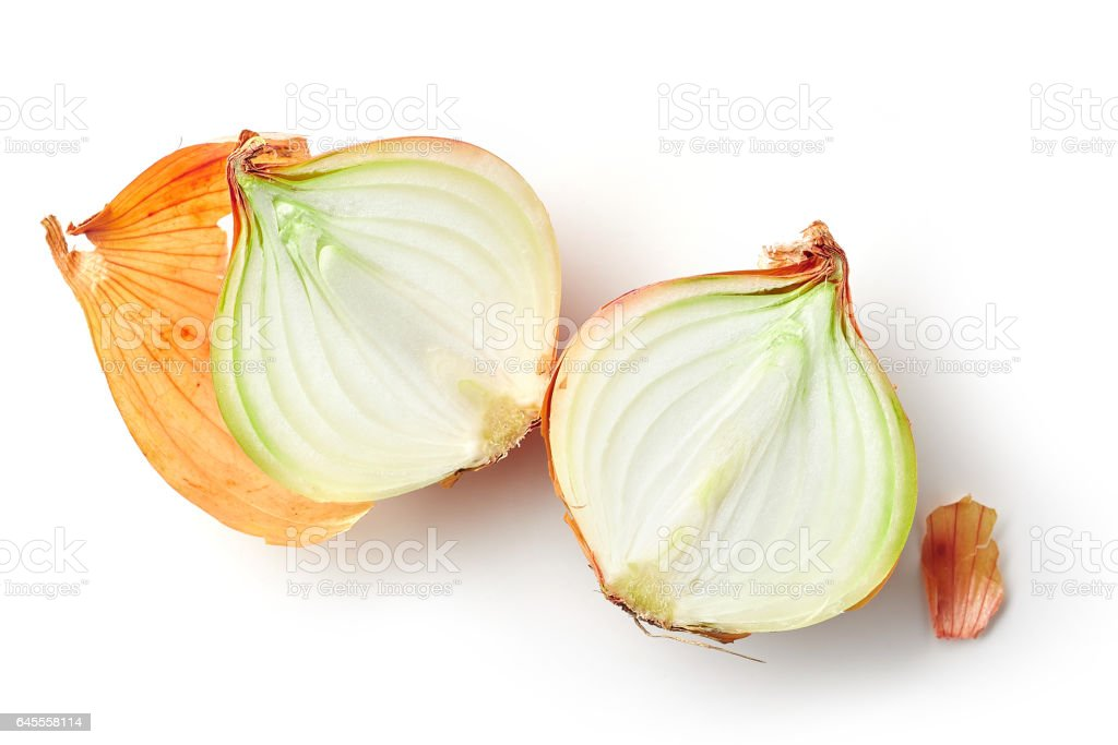 fresh raw onions stock photo