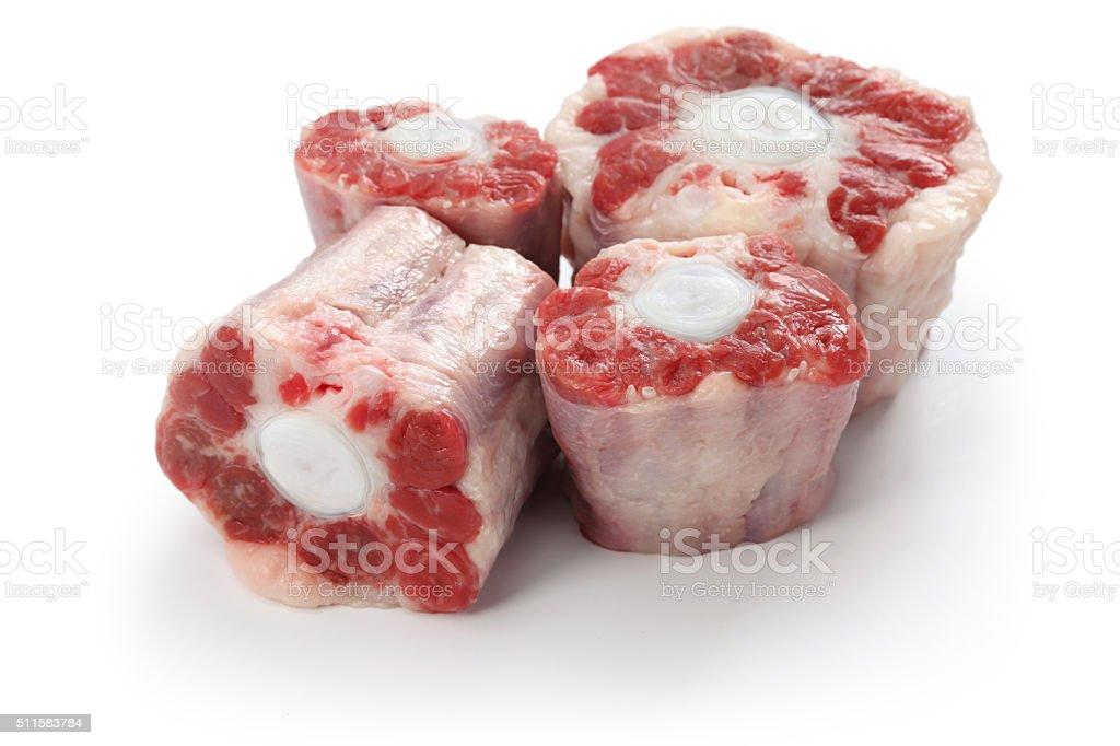fresh raw oxtail stock photo