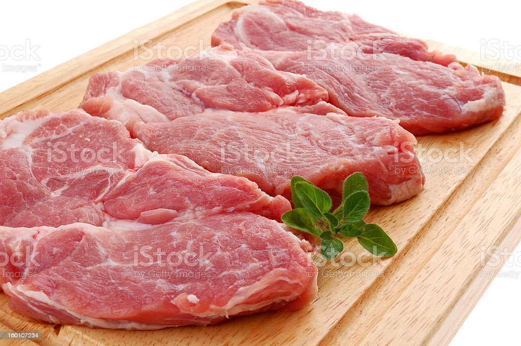 Fresh raw pork royalty-free stock photo