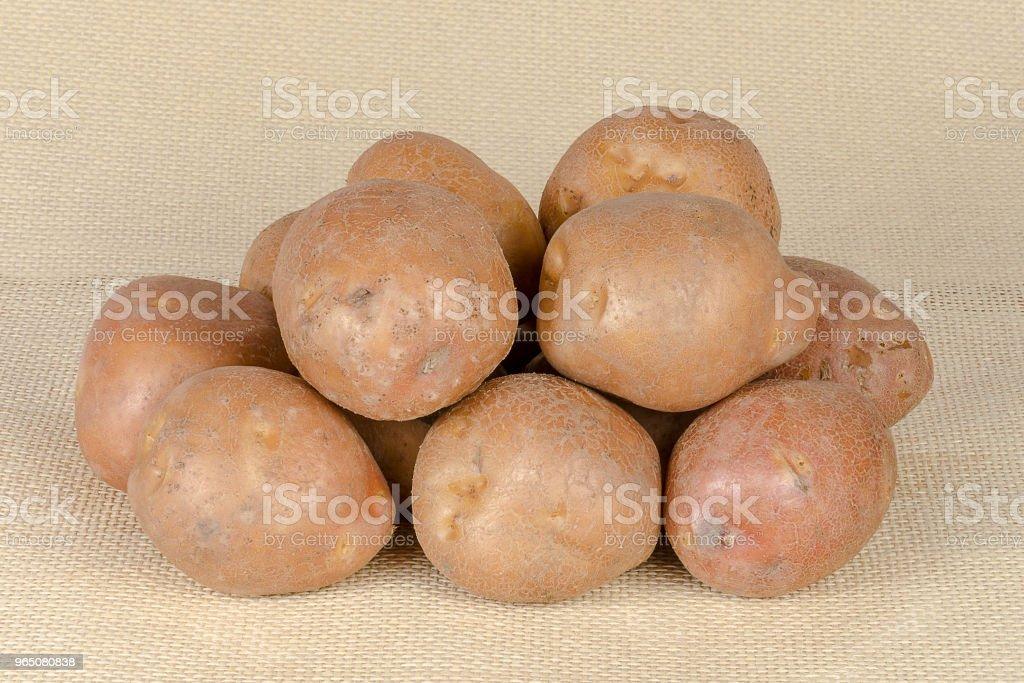 Fresh, raw potatoes zbiór zdjęć royalty-free