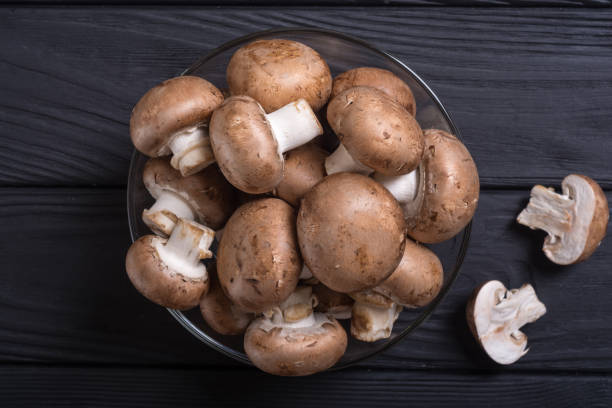 fresh raw royal champignon - fungus stock pictures, royalty-free photos & images