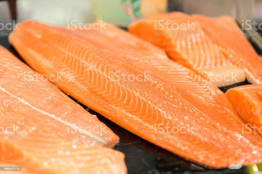 Fresh Raw Salmon royalty-free stock photo