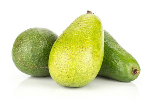 Fresh Raw smooth avocado isolated on white stock photo