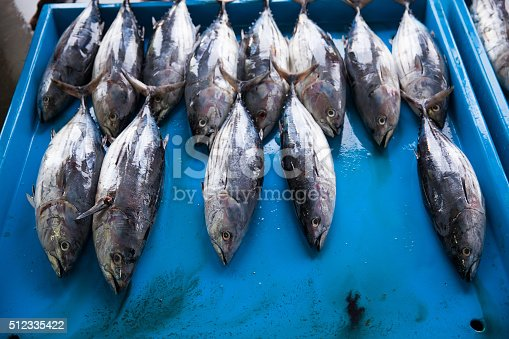 635931692 istock photo Fresh raw tuna fish in market 512335422