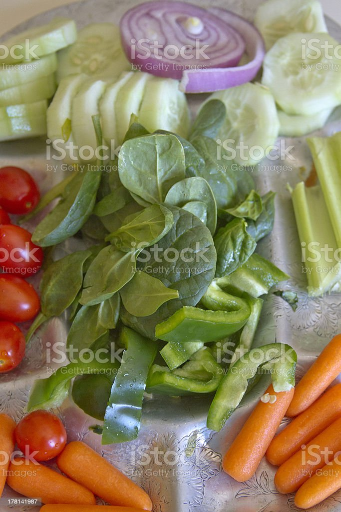 Fresh Raw Vegetables Served royalty-free stock photo
