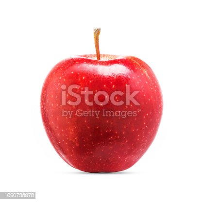 Fresh red apple fruit isolated on white background