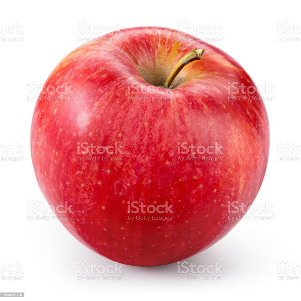 Fresh red apple isolated on white. With clipping path. stock photo