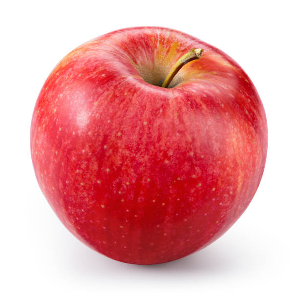 Fresh red apple isolated on white. With clipping path. - Photo