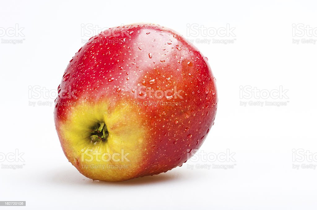 fresh red apple isolated royalty-free stock photo