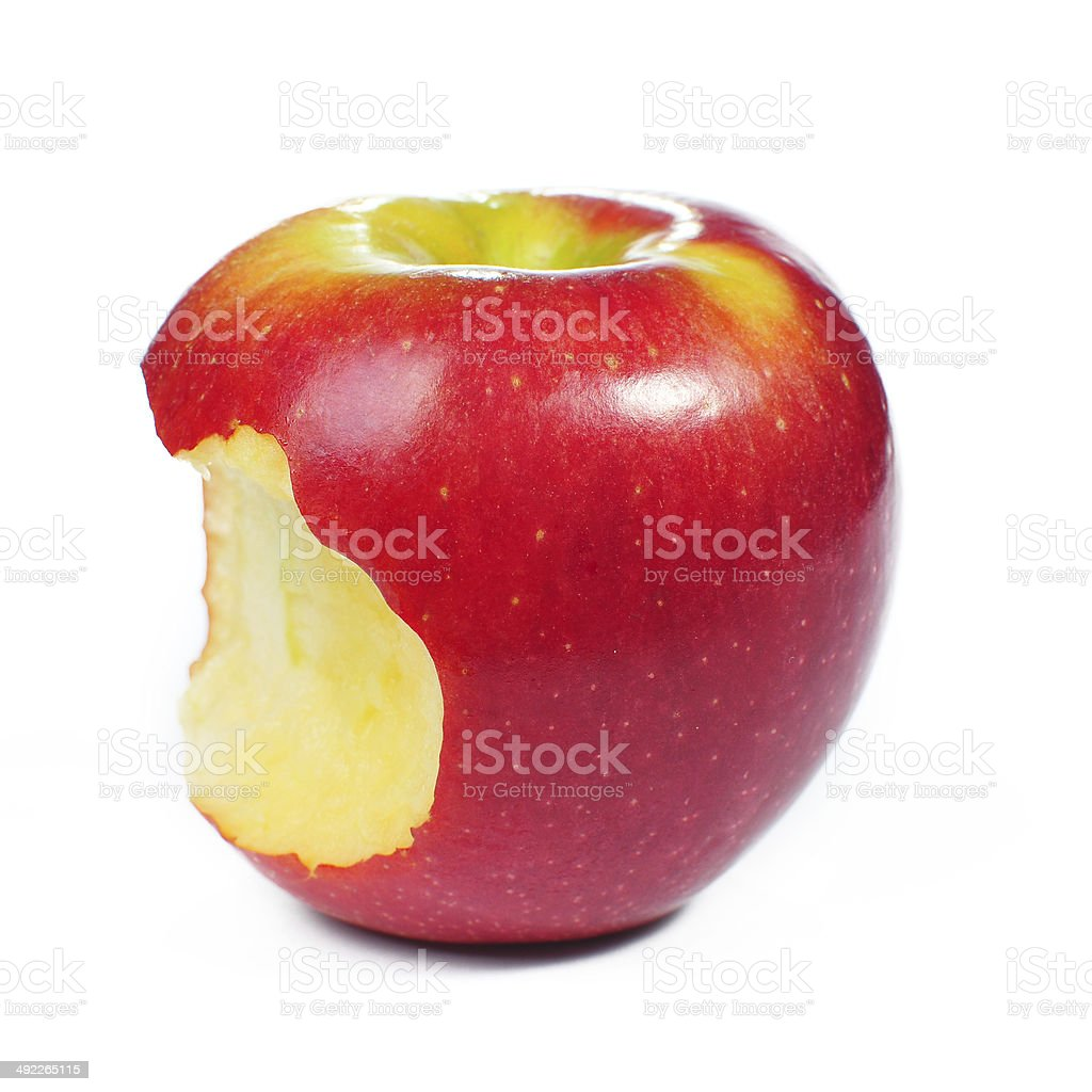 Fresh red apple on isolated white background royalty-free stock photo