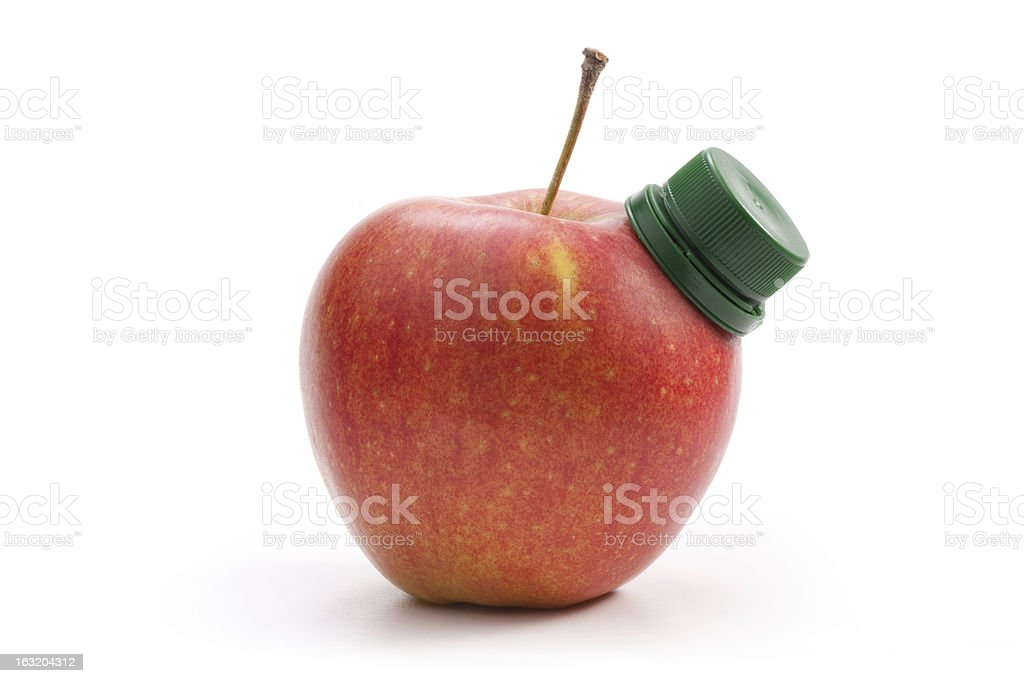 Fresh red apple royalty-free stock photo