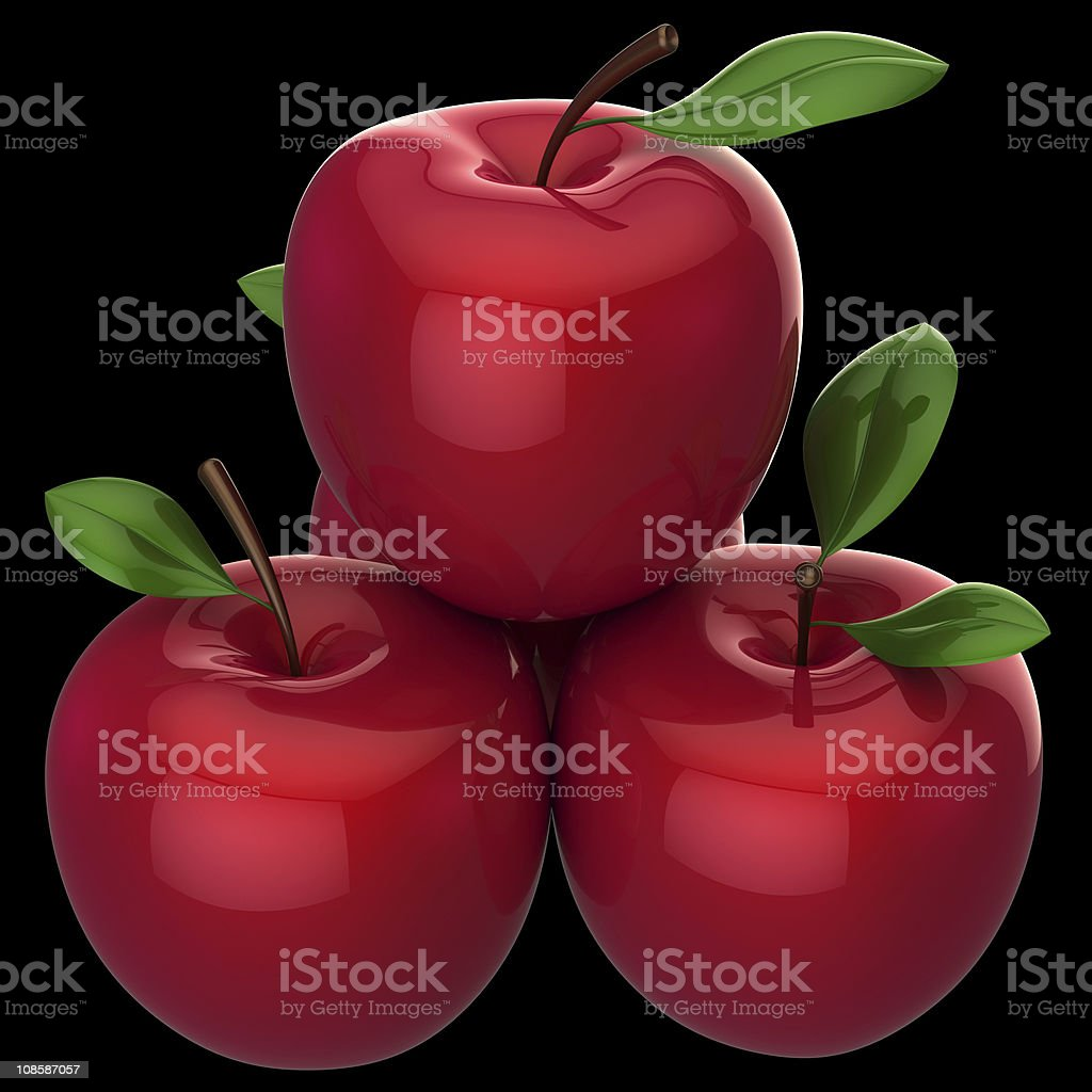Fresh Red Apples (Hi-Res) stock photo