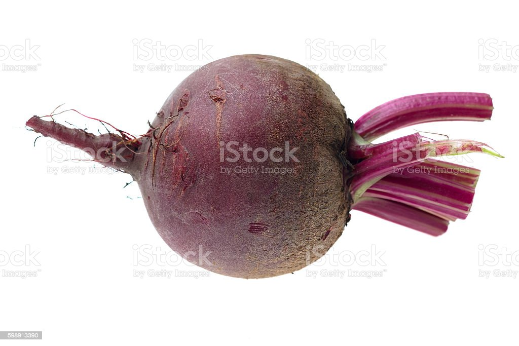 Fresh red Beet on a white background stock photo