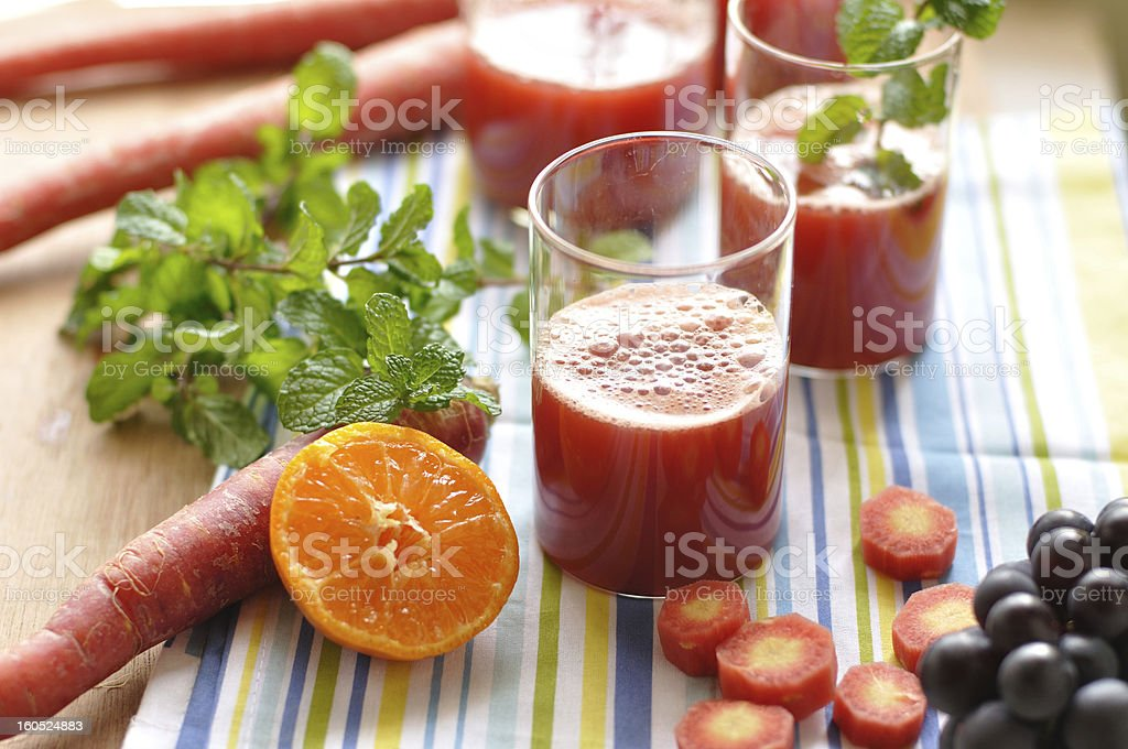 Fresh Red Carrot Juice royalty-free stock photo