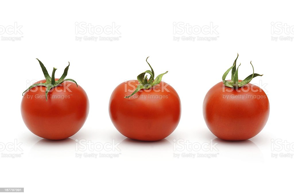 Fresh Red Cherry Tomatoes isolated royalty-free stock photo