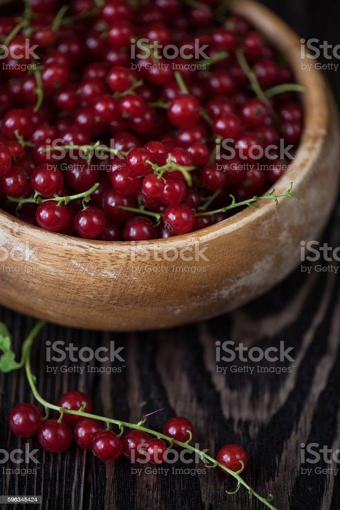 Frischen roten Johannisbeeren Lizenzfreies stock-foto