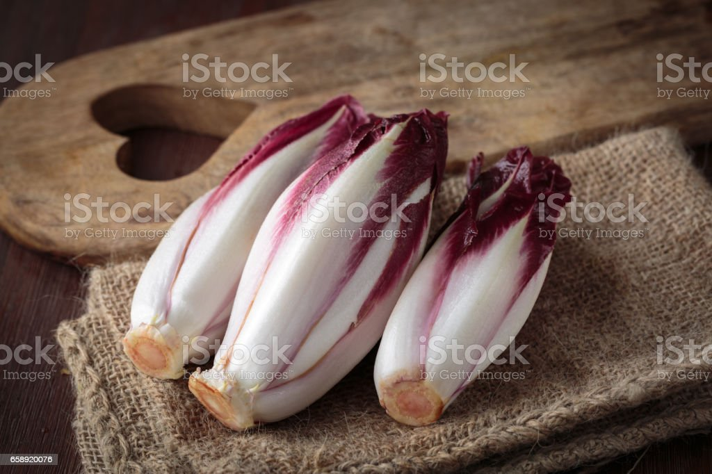 Fresh red endive stock photo