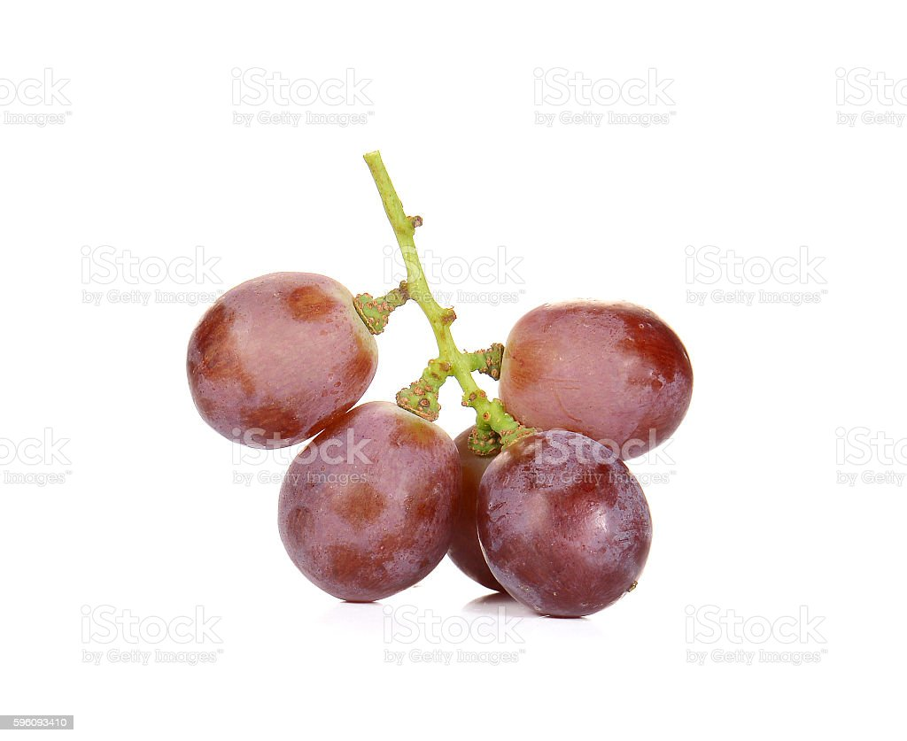 Fresh red grapes on white background royalty-free stock photo