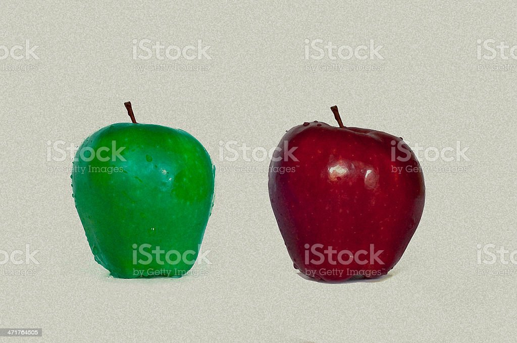 Fresh Red Green Apple royalty-free stock photo