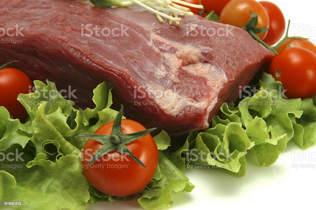 fresh red meat royalty-free stock photo