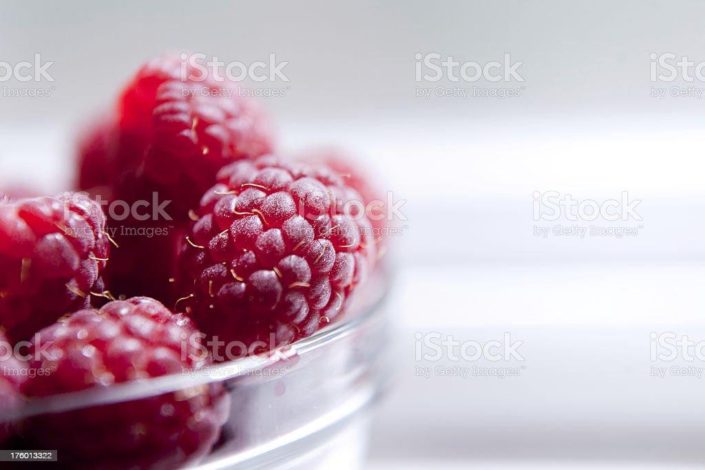 Fresh Red Raspberries royalty-free stock photo