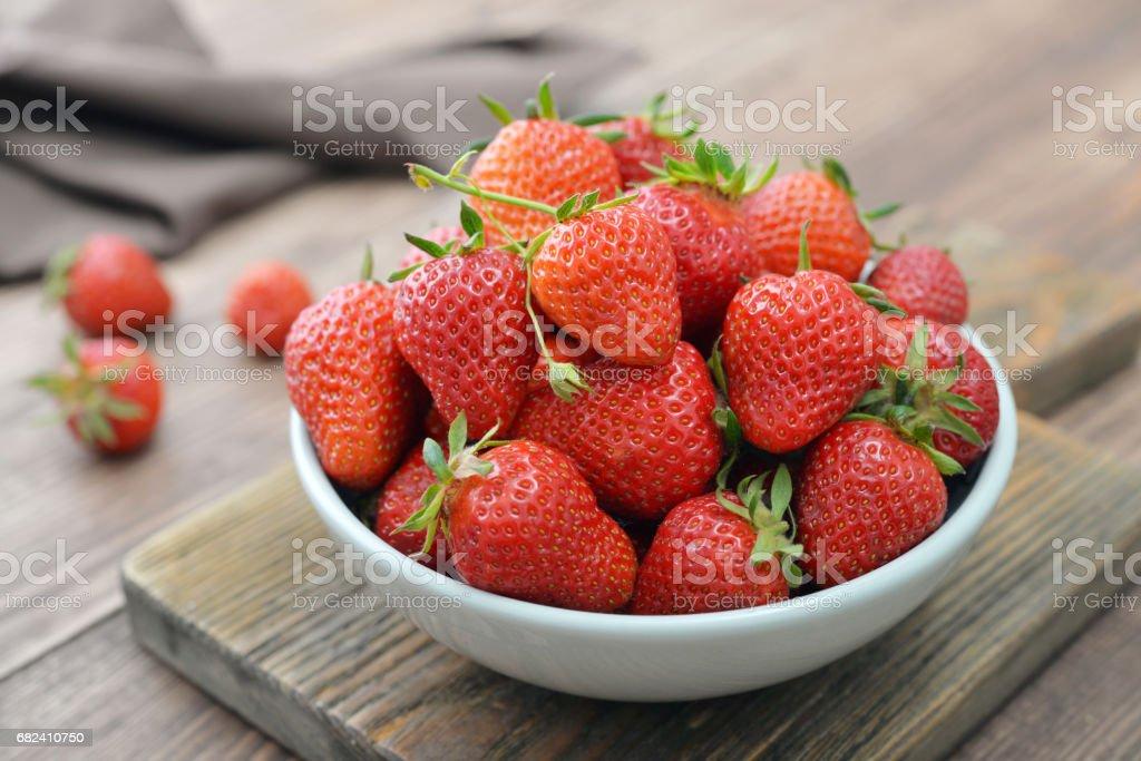 Fresh red strawberries royalty-free stock photo