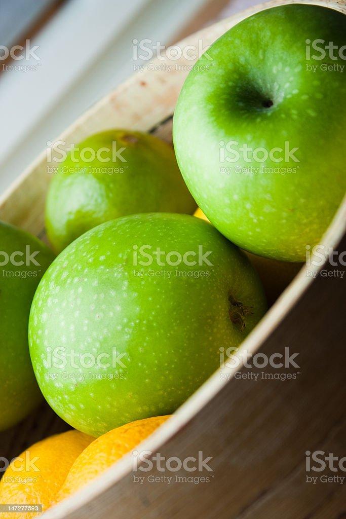 Fresh ripe apples stock photo