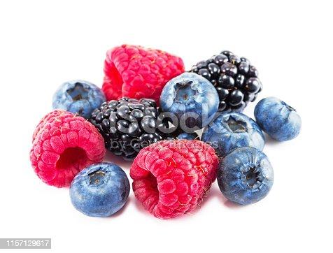 177495131 istock photo Fresh ripe berry on a white background 1157129617