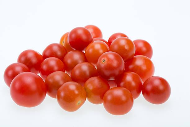 Fresh ripe cherry tomatoes stock photo