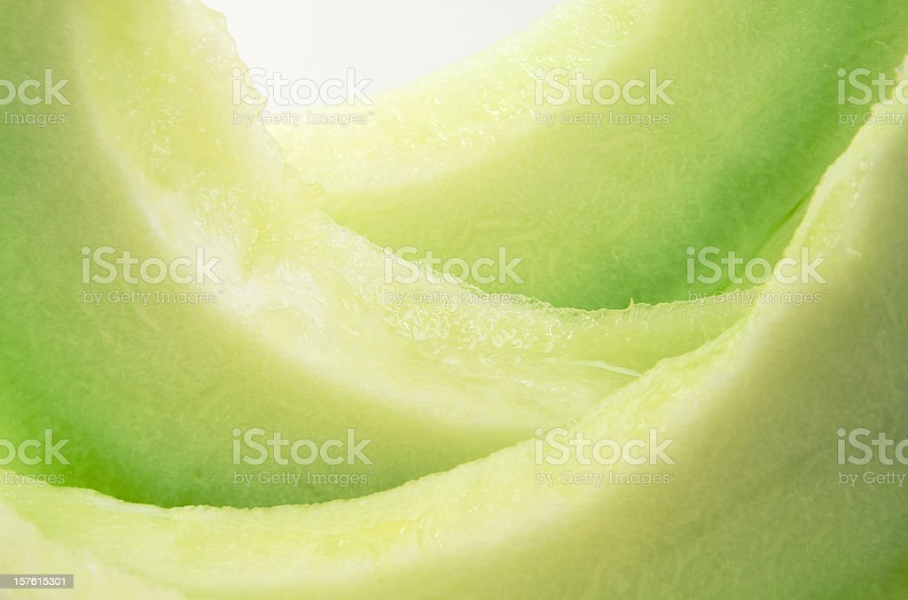 Fresh Ripe Honeydew Melon Slices stock photo