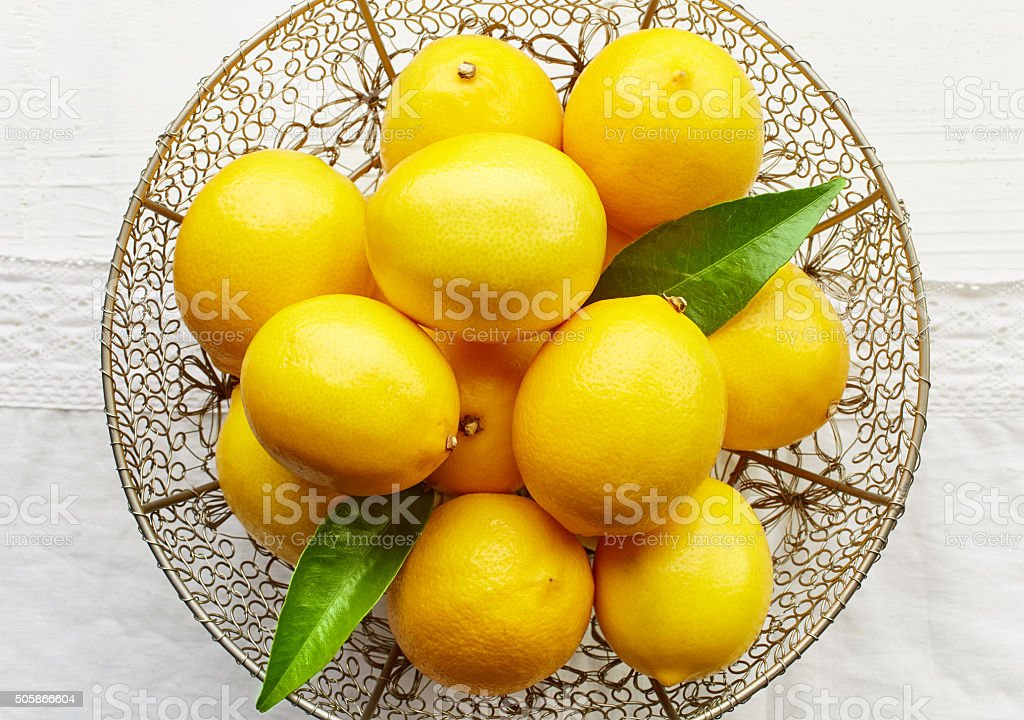 fresh ripe lemons stock photo