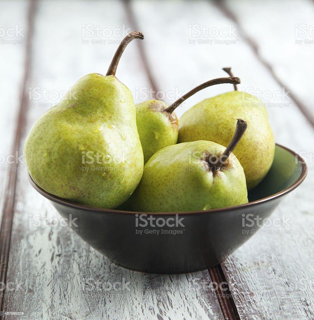 Fresh ripe pears stock photo