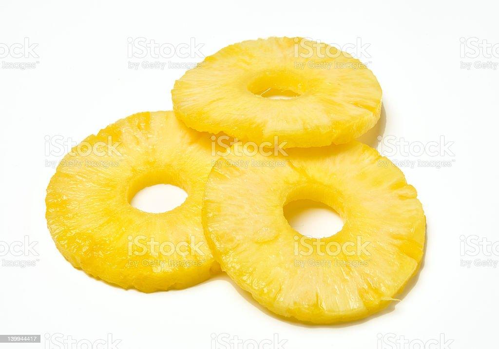 Fresh Ripe Pineapple Rings stock photo