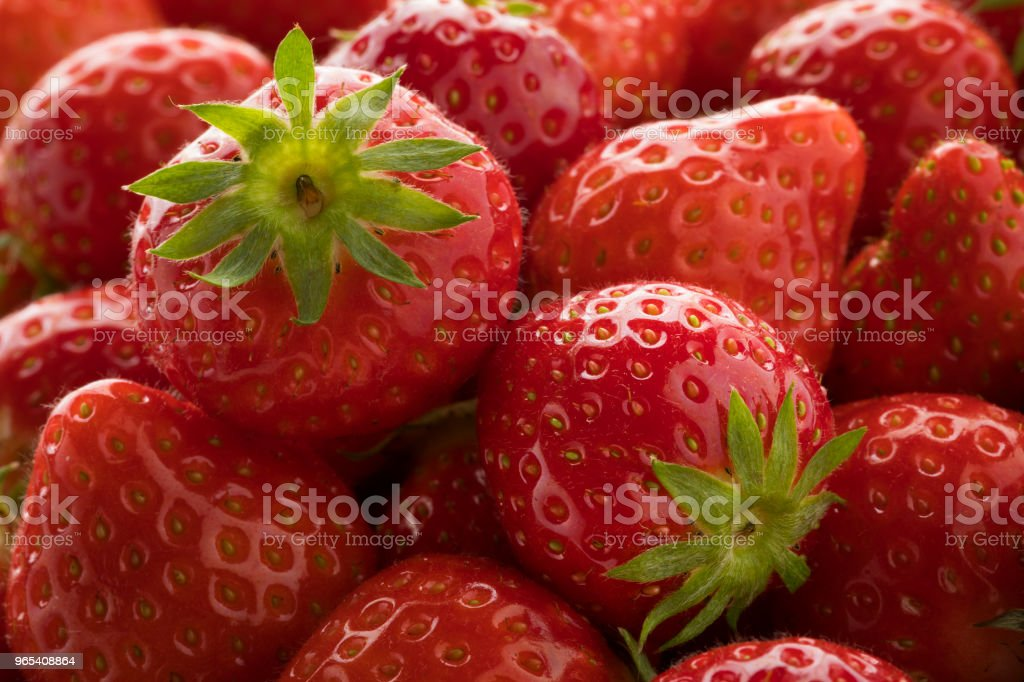 Fresh ripe red strawberries zbiór zdjęć royalty-free