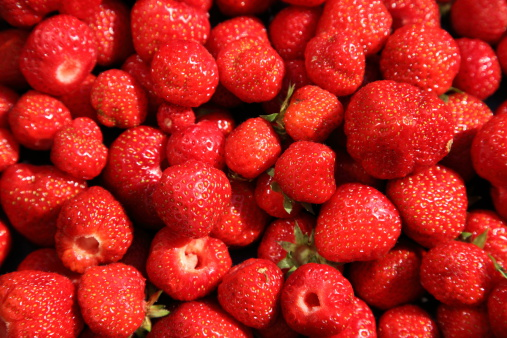 Fresh Ripe Strawberries Newly Picked Stock Photo - Download Image Now