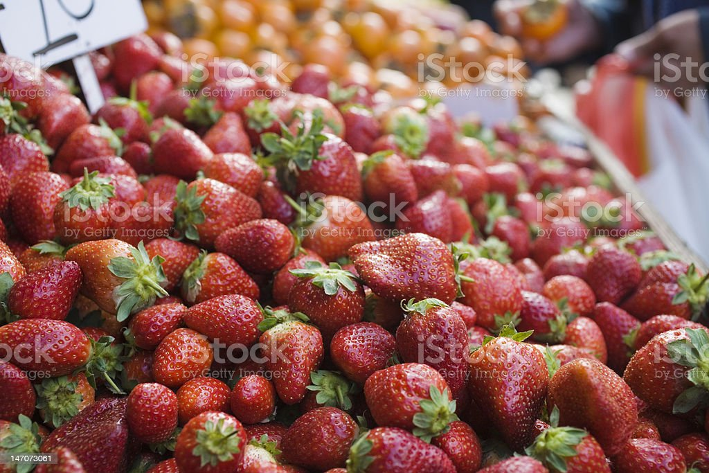 Fresh Ripe Strawberries stock photo