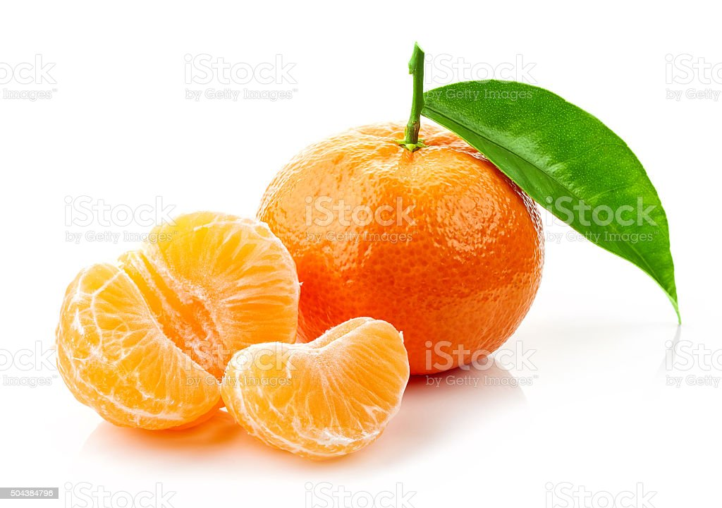 fresh ripe tangerines stock photo