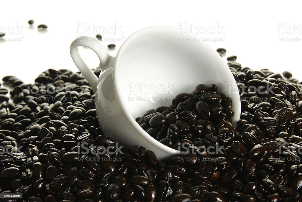 Fresh roasted whole coffee beans royalty-free stock photo