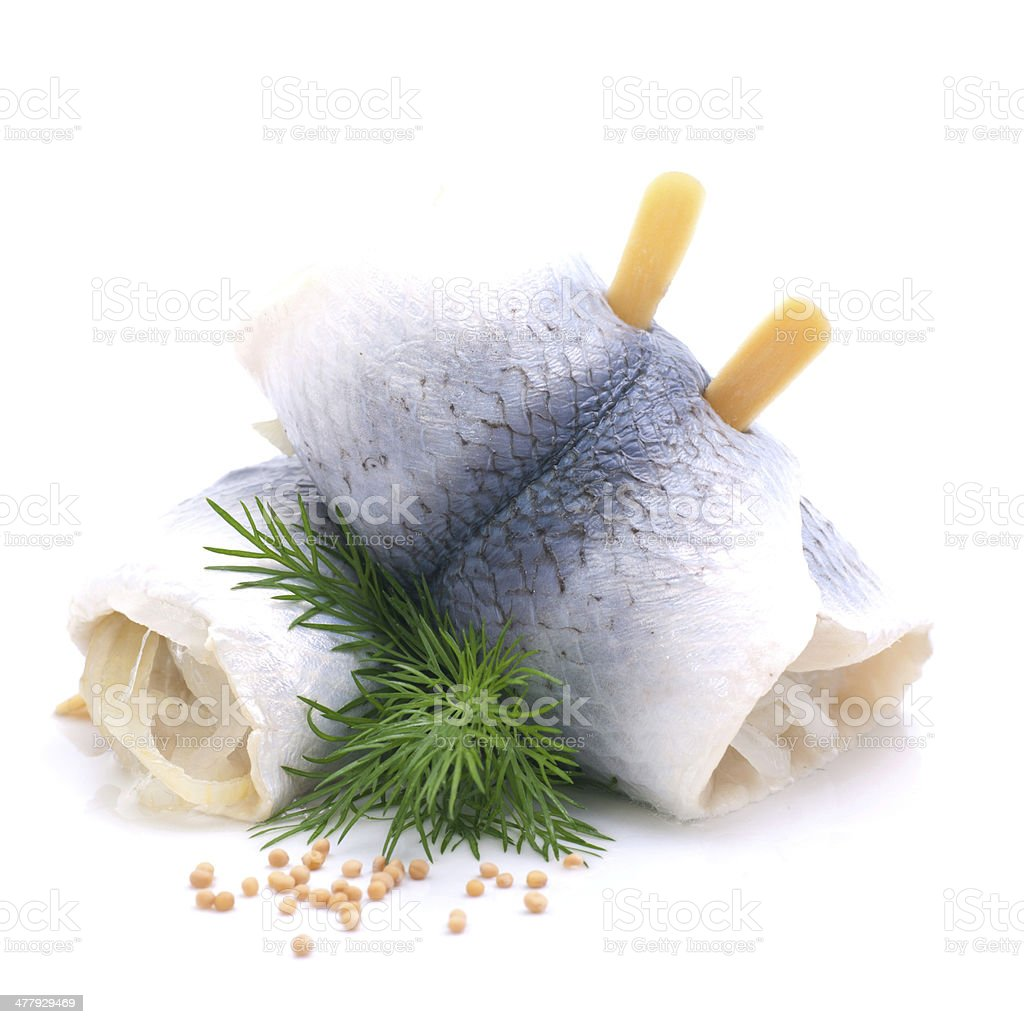Fresh Rollmops stock photo