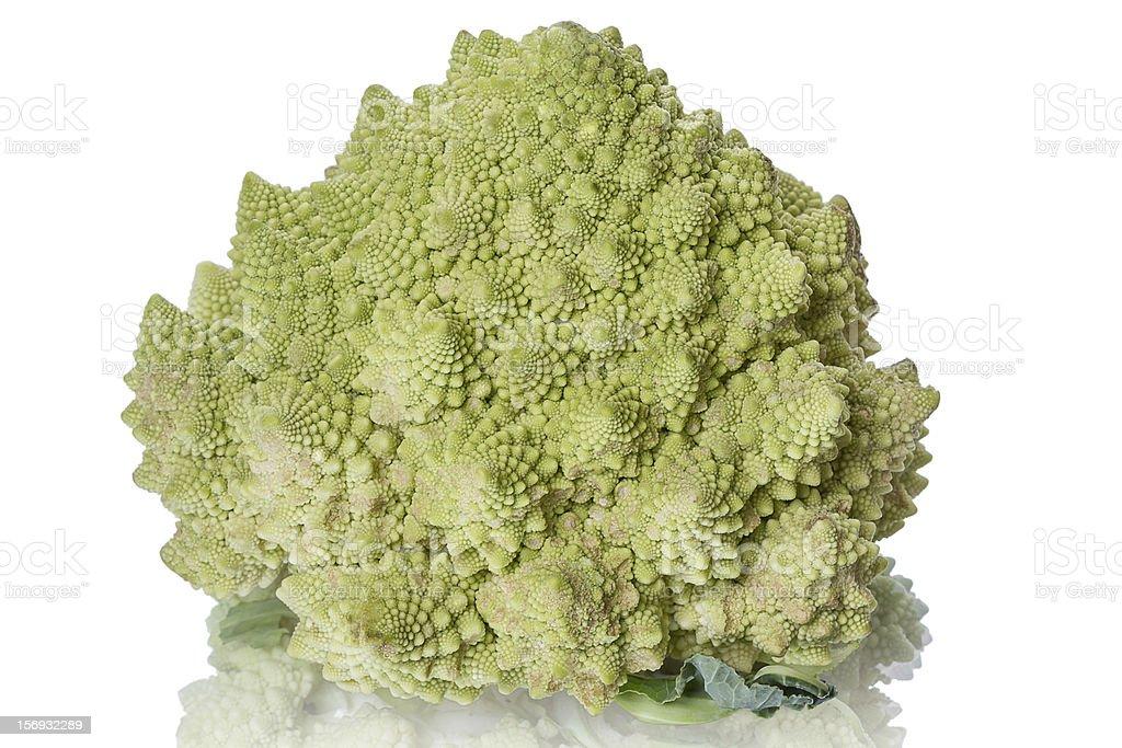 Fresh Romanesco Broccoli royalty-free stock photo