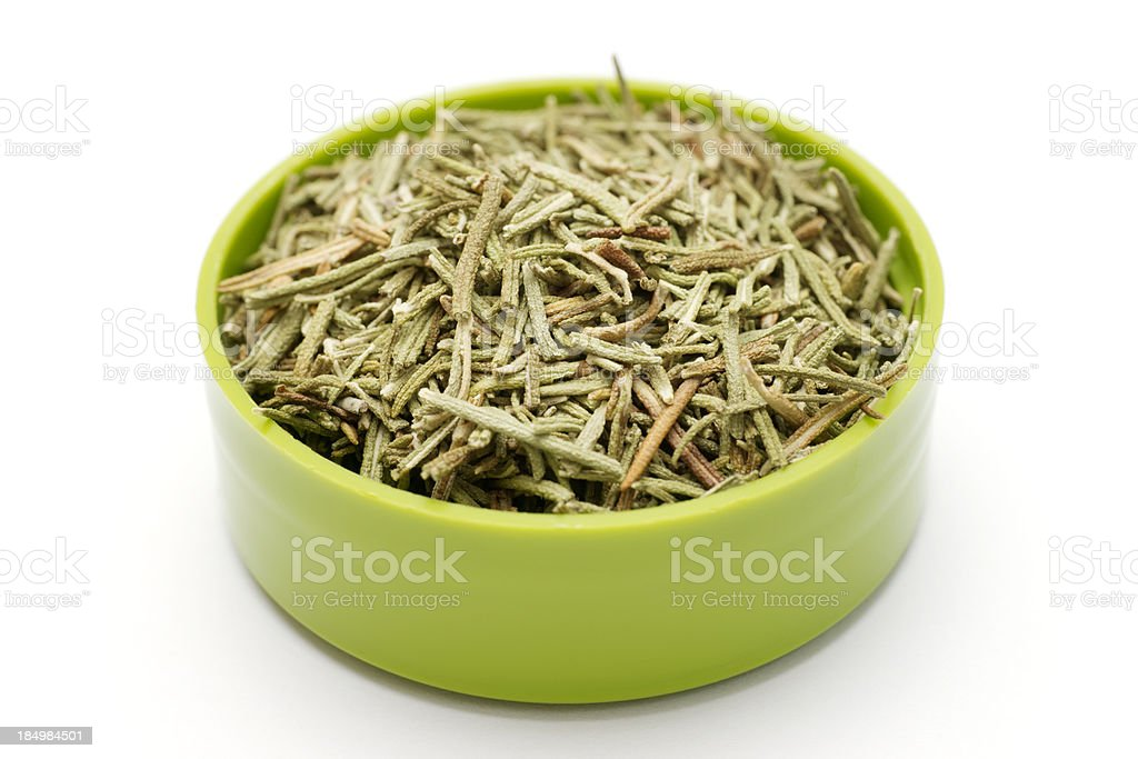 Fresh Rosemary, chopped and dried royalty-free stock photo