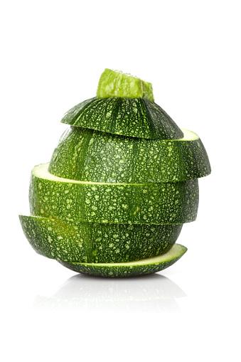 Fresh Round Zucchini Slices Stock Photo - Download Image ...