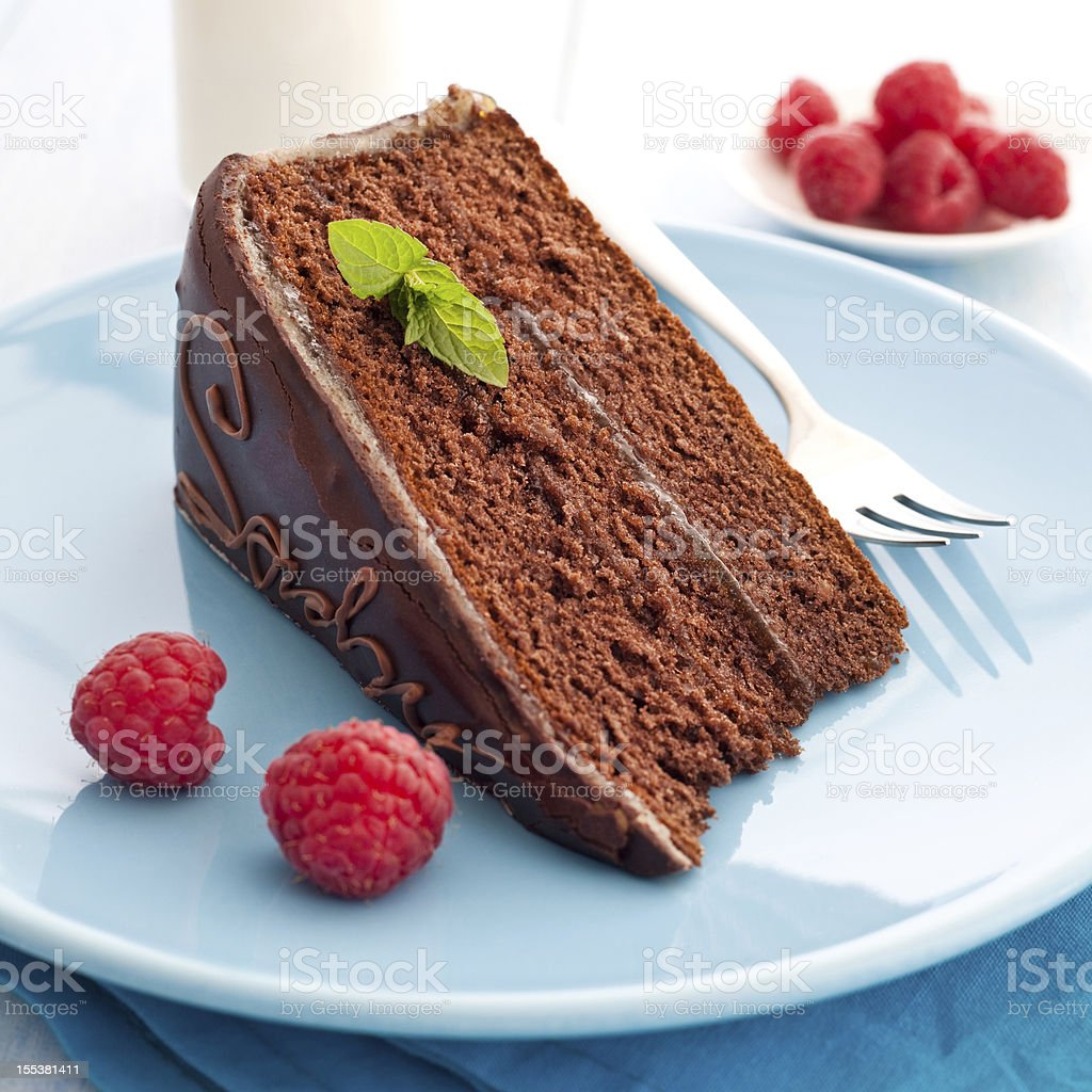 fresh sacher cake royalty-free stock photo