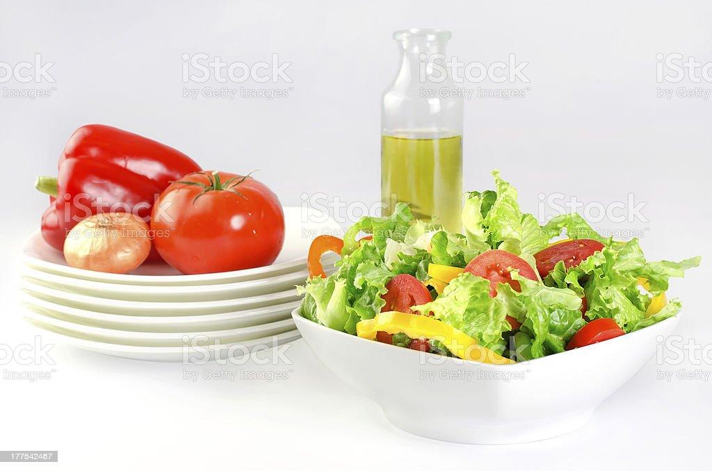 fresh salad background royalty-free stock photo