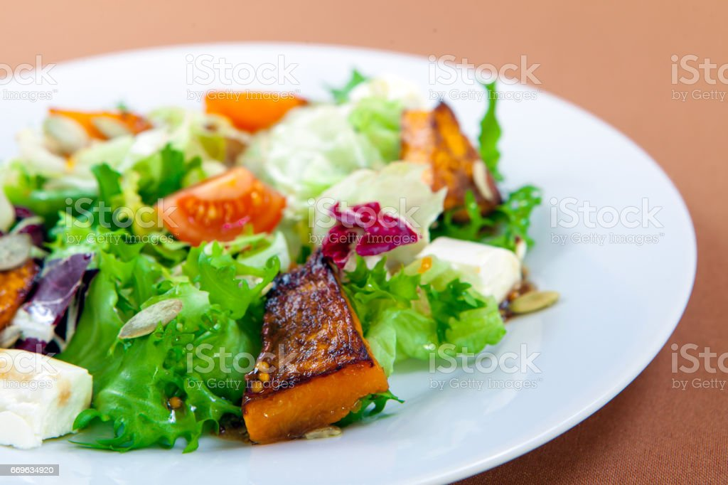 Fresh salad bowl stock photo
