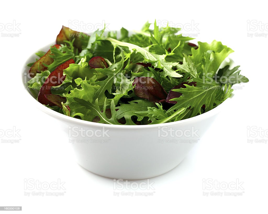 Fresh salad in a white plate royalty-free stock photo