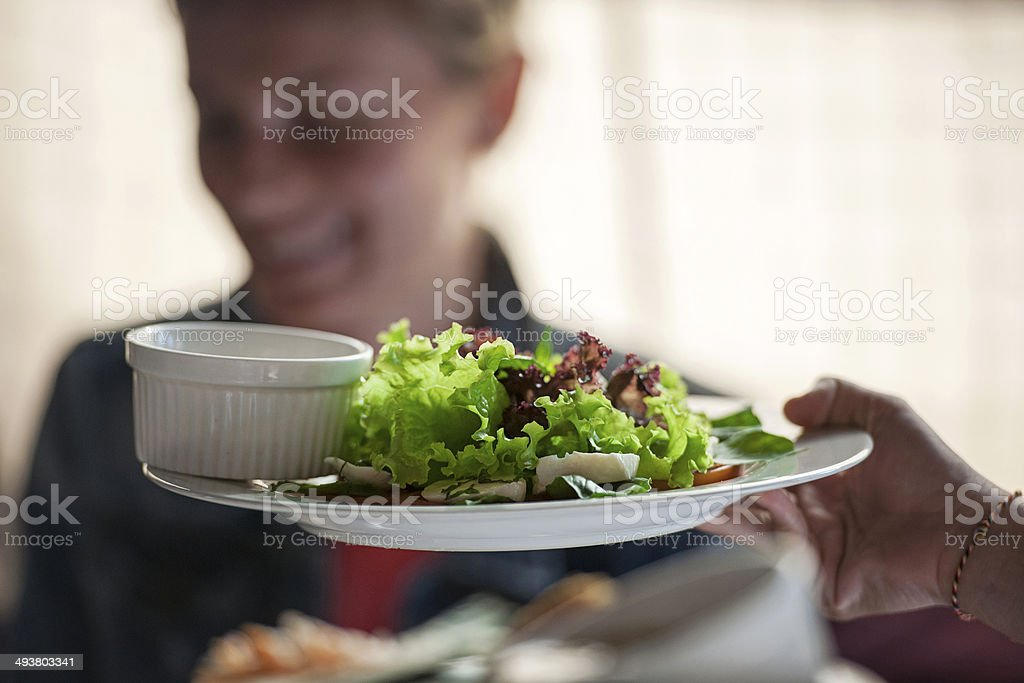 Fresh salad is served royalty-free stock photo