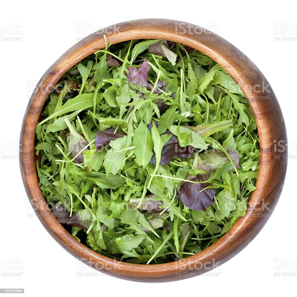 fresh salad mix royalty-free stock photo