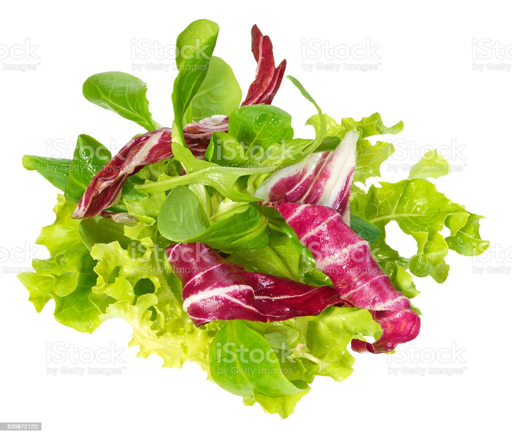 Fresh salad mix(+clipping path) stock photo